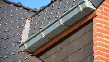 Volledige dakconstructie met dakkapellen en goten in zink.